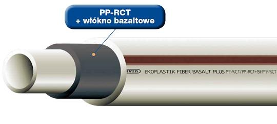 Rura FIBER Basalt Plus S 3,2 w sztangach - System Wavin Ekoplastik